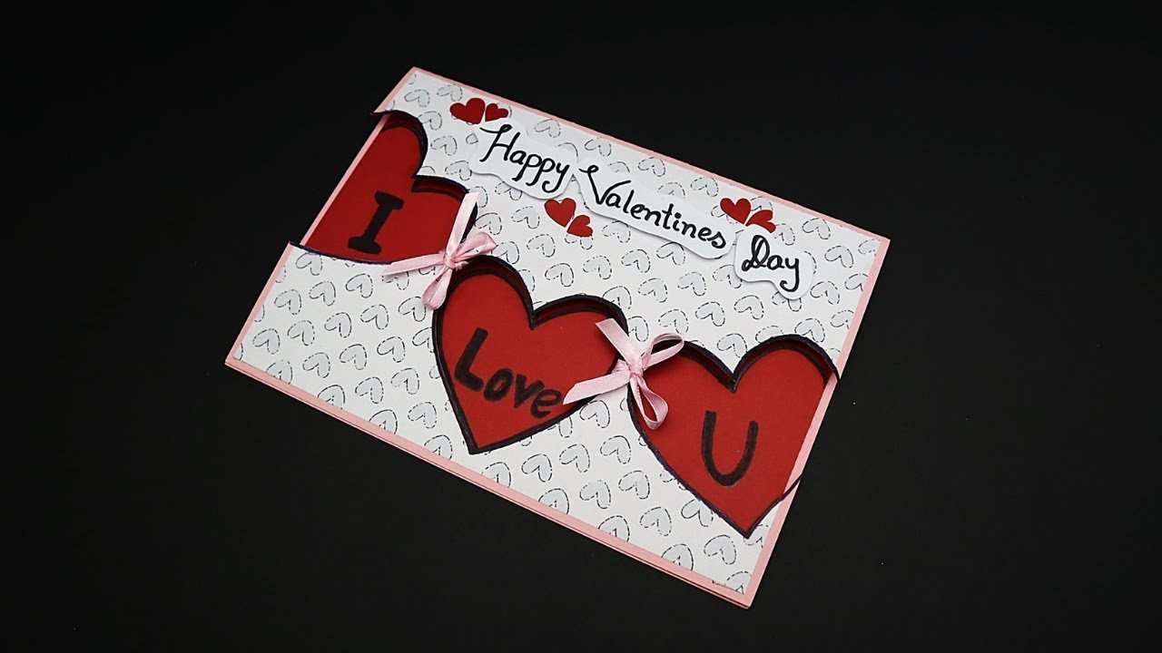 DIY Handmade Valentines Day Greeting Card | How to Make a Love Card For Loved Ones