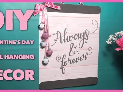 DIY Hanging Valentine's Day Decor Sign - Dollar Tree Decoration Using A Gift Bag