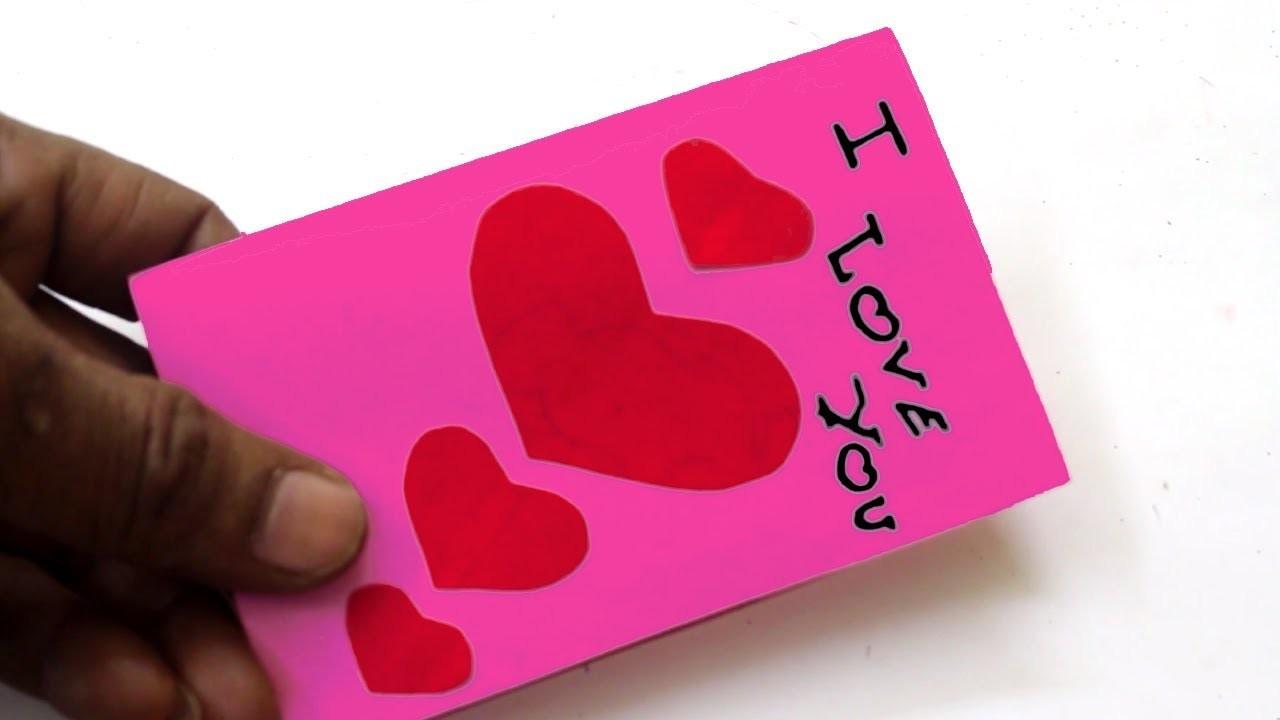 DIY i Love You Cards - Simple & Easy Card Making Idea   Paper Art & Craft Tutorials