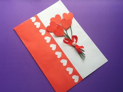 DIY: Valentine Day Card!!! How to Make Birthday card.Greetings card.valentine day card with Paper!!!