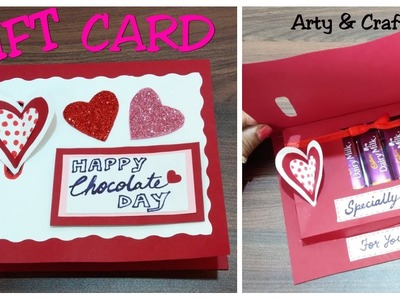 DIY Valentine Day Chocolate Card. Gift Card Idea.How to Make Greeting Card for Chocolate Day