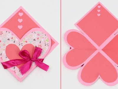 DIY Valentine Paper Folding: How to Make Valentine Card for the upcoming Valentine's Day