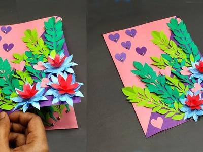 DIY Valentine's Day Paper Card for Gift!! Beautiful Handmade Card Idea | Jarine's Crafty Creation