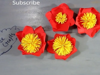 Paper Diy Origami Flower 4 Petals And 8 Petals Flower Making With