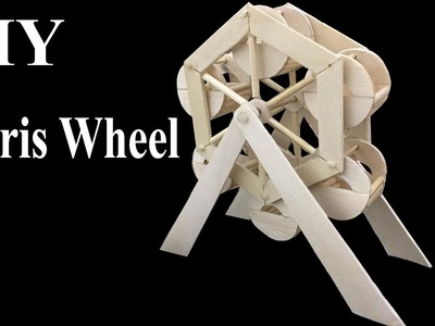 How to make a Ferris Wheel at home, Easy Craft Ideas