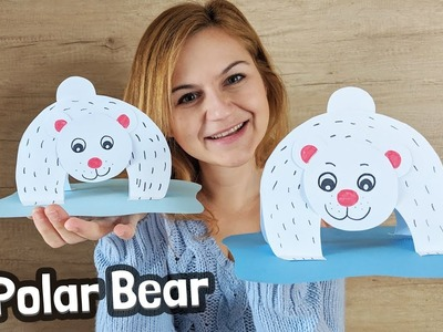 How to make Polar Bear Paper Craft With Kids