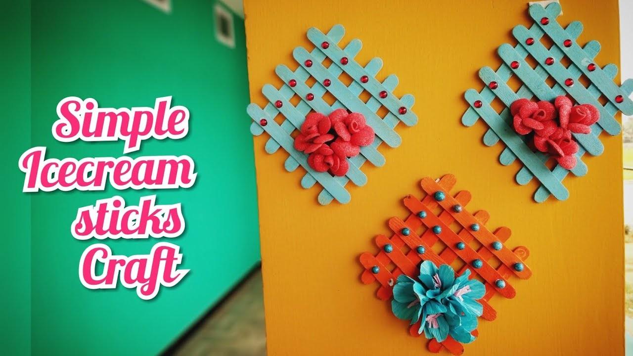 Icecream Sticks Craft Ideas Home Decoration Diy Simple Crafts
