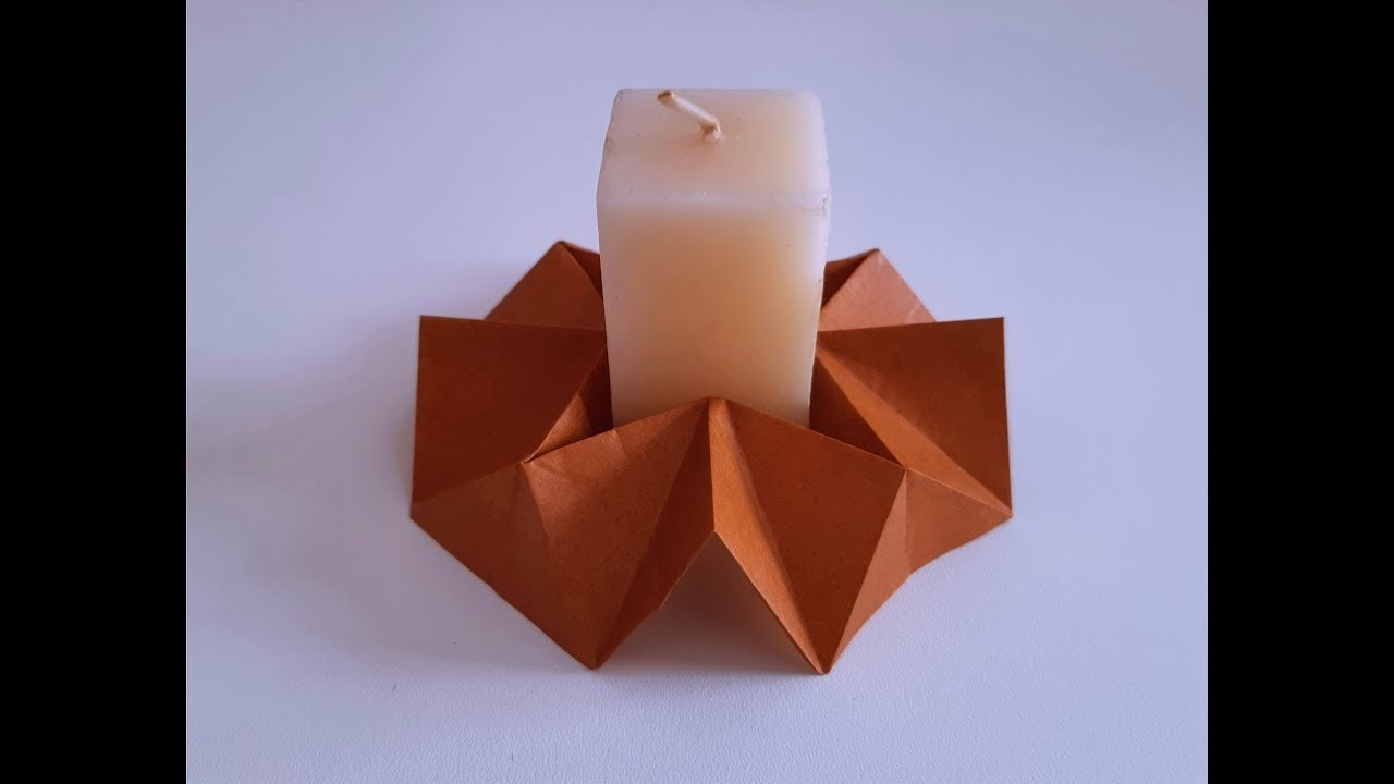 Origami Candle Holder - DIY -  Suporte de Vela Origami (All Paper Art)