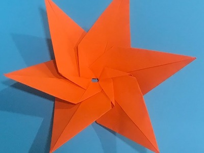 PaPeR CrAfT, Origami Star Flower, Make with paper