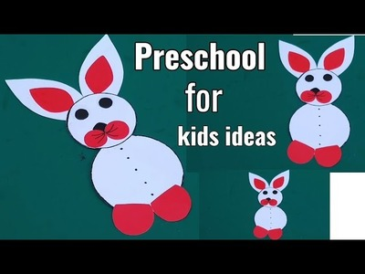 Rabbit craft for preschool kids | Easy paper craft ideas