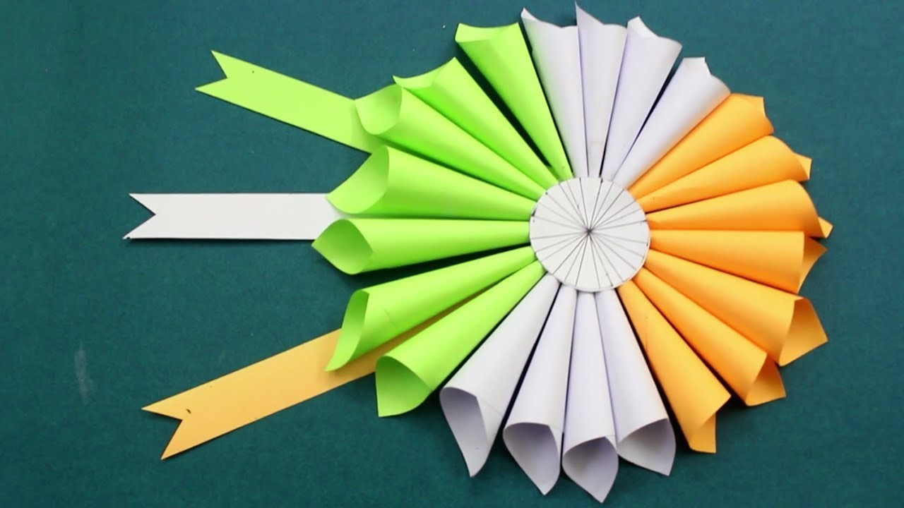 Republic Day & Independence Day Craft Idea - Tricolor | DIY Paper Flower