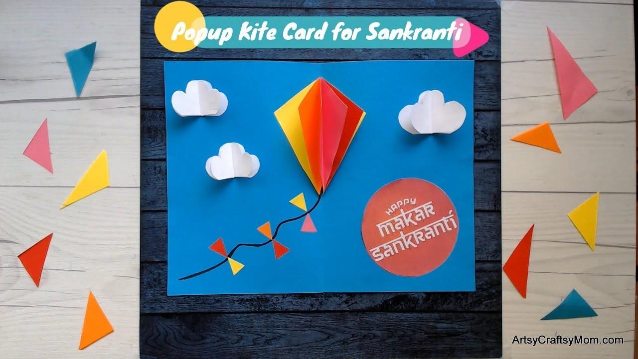 Sankranti Craft - Make a Popup Kite Card