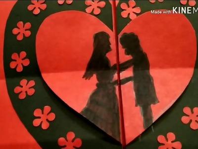 Valentine's day card   handmade card   folding card   easy craft   Anniversary card