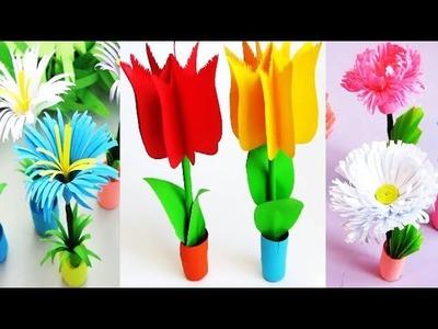 3 Ideas. DIY: Quilling Miniature 3D Flower Pot !!! How to Make 3D Flower Pot With Paper !!!