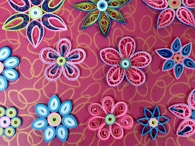 Quilling 5 Paper Quilling Flowers Tutorial Diy Quilling Paper