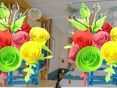 Arts and Crafts with Papers | Best Craft Ideas for Room Decor | DIY Paper Craft Idea