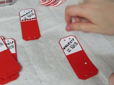 Christmas Craft Fair.Crafting Ideas: Candy Cane Treat Holders (Tutorial)