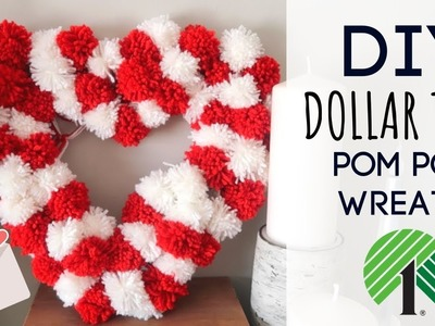 DIY Dollar Tree Pom Pom Wreath | Perfect for Valentines Day! ♥️