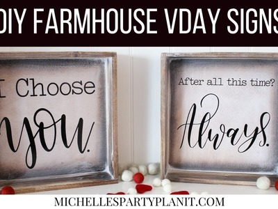 DIY Farmhouse Signs - Valentine's Day Home Decor with Cricut