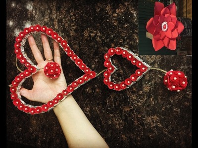 DIY: How to make Valentine's Day Wall Decor. Recycling the Christmas Flowers