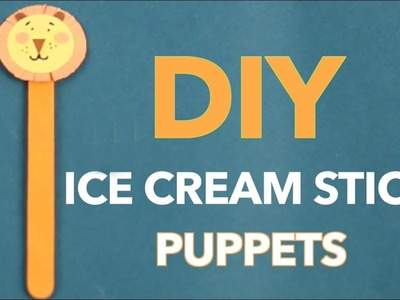 DIY Ice Cream Stick Puppet | How To Make Animals Puppets With Ice Cream Stick | Craft Video For Kids