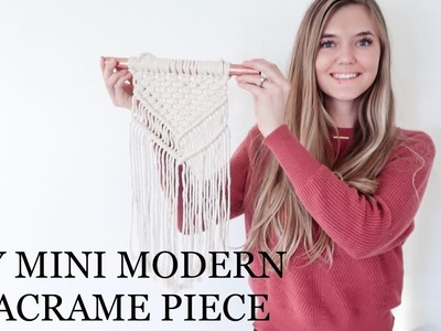 DIY Mini Modern Macrame Piece For Beginners