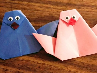 DIY Paper Crafts for Kids - How to Make an Origami Bird + Tutorial !