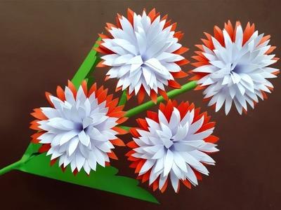 DIY: Paper Flower Stick Making   Flower Stick   Flower Making   Paper Flowers   Paper Crafts