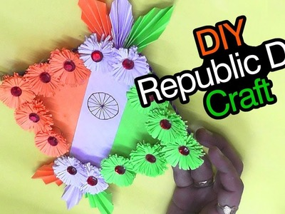 DIY Republic Day Decor Idea.Easy Independence Day Craft for Kids.DIY Republic Day Paper wall hanging