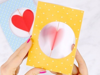 DIY Spinning Heart Valentines Day Card for Kids