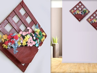 DIY.  Wall Hanging Flower Pot    Handmade Things    Best Out of Waste