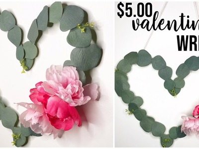 Dollar Tree Valentines Day Wreath DIY | Farmhouse Shabby Chic