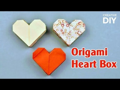 Easy Origami Heart Box for Valentine's Day - DIY Origami Heart Box | Creative DIY
