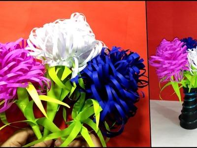 Easy Paper Flower - DIY Decoration Paper Flowers - Home Decor Paper Crafts