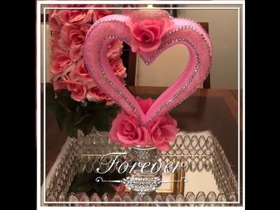 Elegant Centerpiece.Candle Holder Dollar Tree DIY Valentines Day  Wedding Decor Ideas 2019