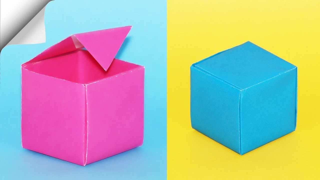 How To Make A Paper Box   DIY paper box   DIY easy paper crafts
