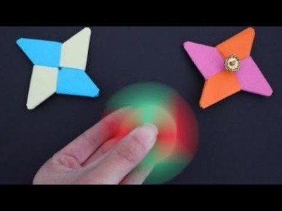 How To Make A Paper Fidget Spinner WITHOUT BEARINGS   DIY paper crafts   Easy Origami step by step