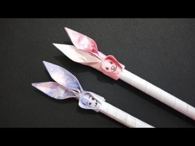 How to make a pen set for children   DIY paper crafts   Easy Origami step by step Tutorial