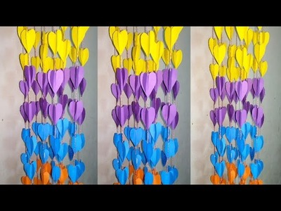 How To Make Easy  Wall Hanging With Color Paper | Paper Craft Idea | SS Idea Crafts