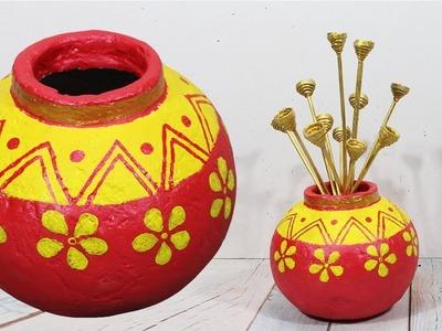 How to make flower vase with plaster of paris | Flower vase diy | DBB