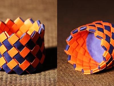 How To Make Paper Basket - Paper Basket Craft Making Tutorial
