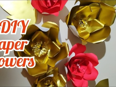 How To Make Paper Flower. DIY Paper Flower.Paper Flower For Backdrop