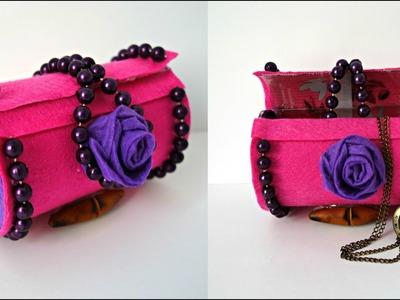 Jewelry storage box #DIY | Yves Rocher plastic bottle craft #bestoutofwaste