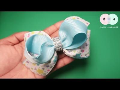 Laços de fita ???? Simple Bow Tutorial ???? DIY by Elysia Handmade