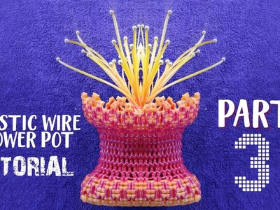 തുളസിത്തറ model FLOWER POT MADE WITH PLASTIC WIRE (Part-1 of 3)   Part 1& 2 link in the comment box