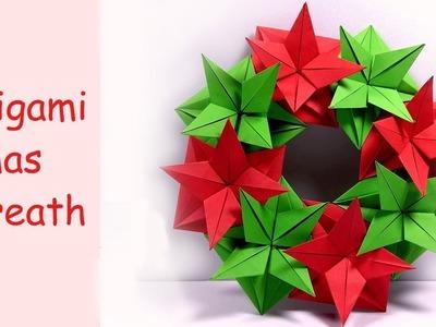 Christmas Wreath Origami tutorial !! - YouTube | 300x400