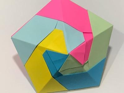 Origami Decahedron of  Modules - Tutorial (diy)