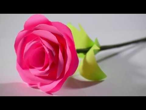 Valentine's day craft ideas || DIY Valentine gift ideas homemade || Paper Red Rose Craft 2019