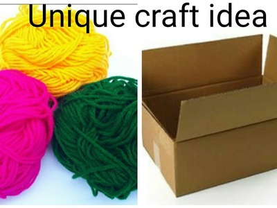 Waste material recycling craft.DIY.Best out of waste wool.diwali room decor craft.christmas wreath