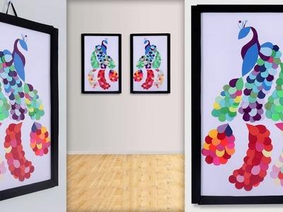 WOW.  Beautiful Paper Craft Idea || DIY Paper Peacock Wall Frame Idea || Handmade Things
